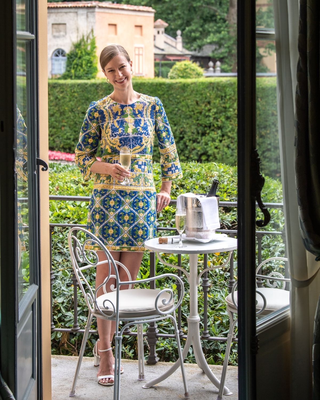 Stacie Flinner Dolce Gabbana Lace Dress Daily Look