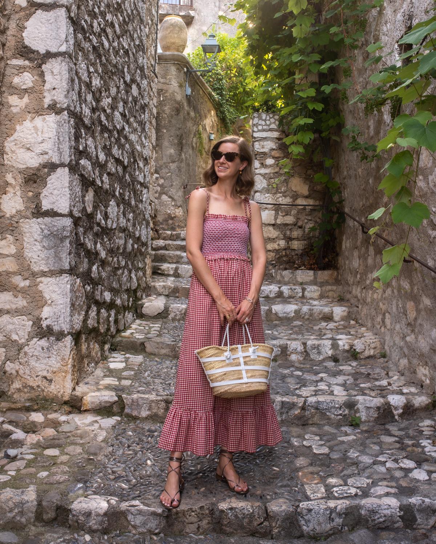 Stacie Flinner Daily Look Kate Spade Gingham Smocked Dress