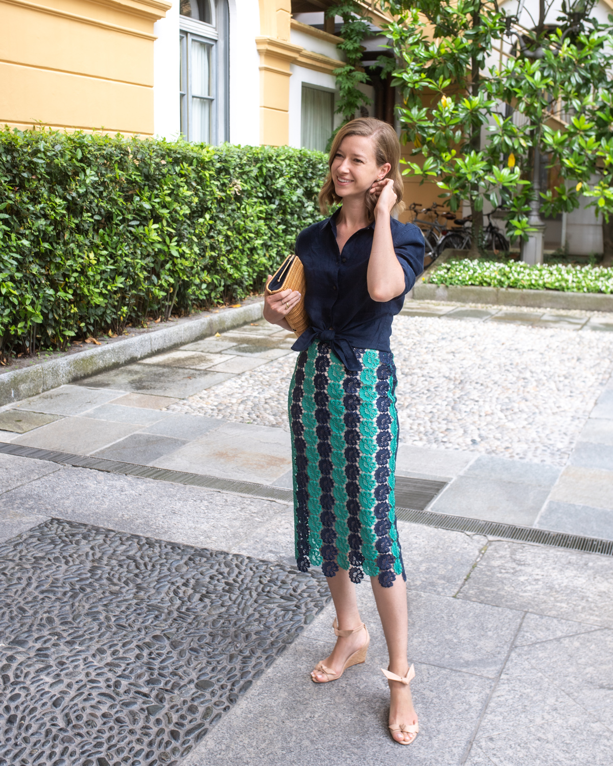 Stacie Flinner Pucci Lace Skirt Daily Look