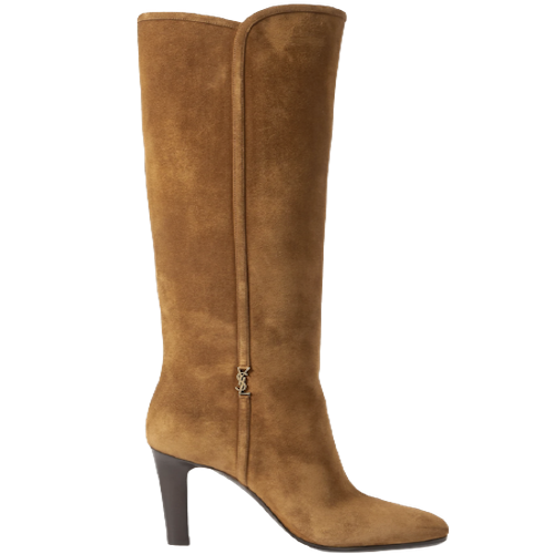 YSL Suede Knee High Boots