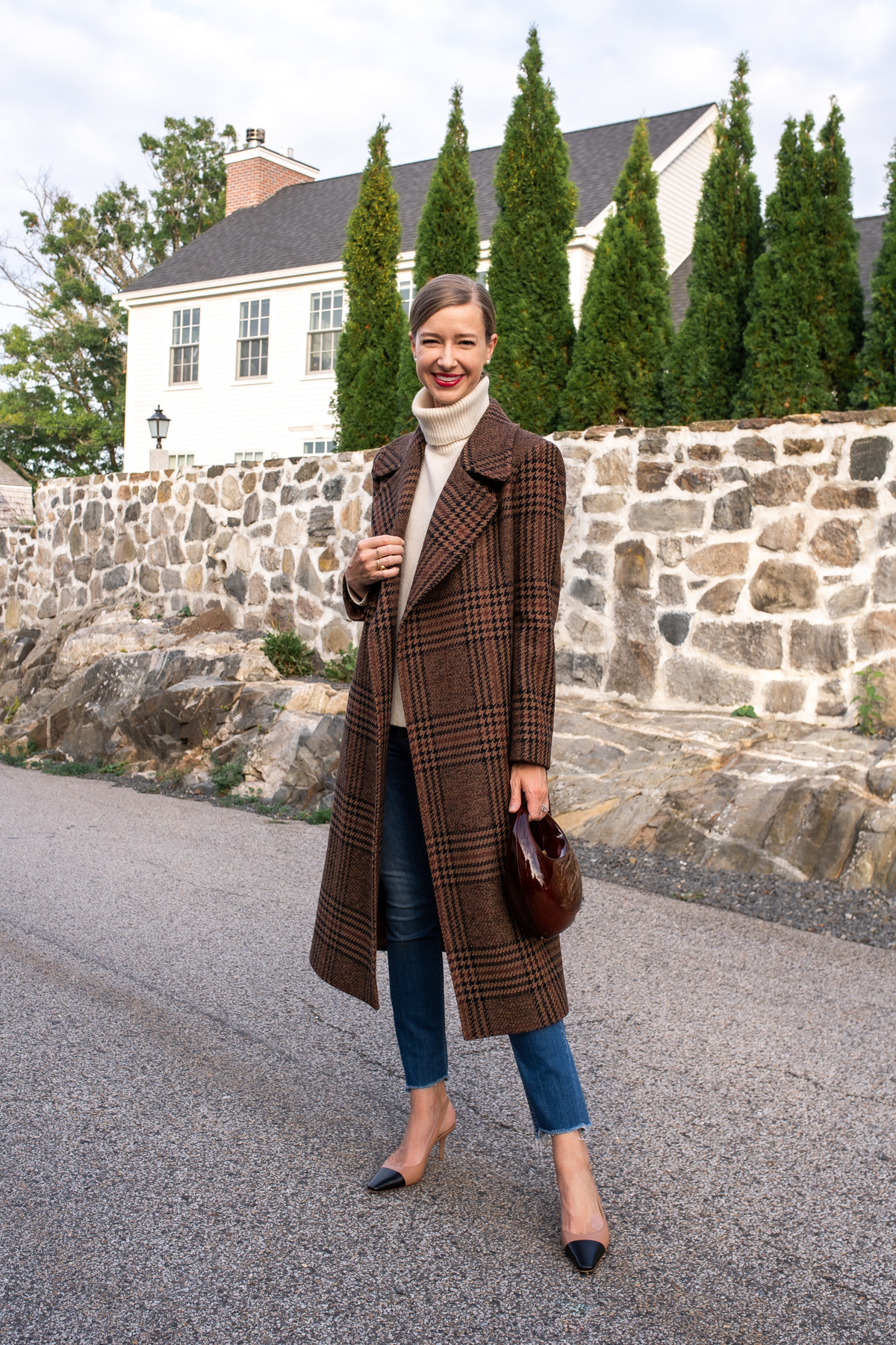 Stacie Flinner x Farfetch Plaid Wrap Coat-1.jpg