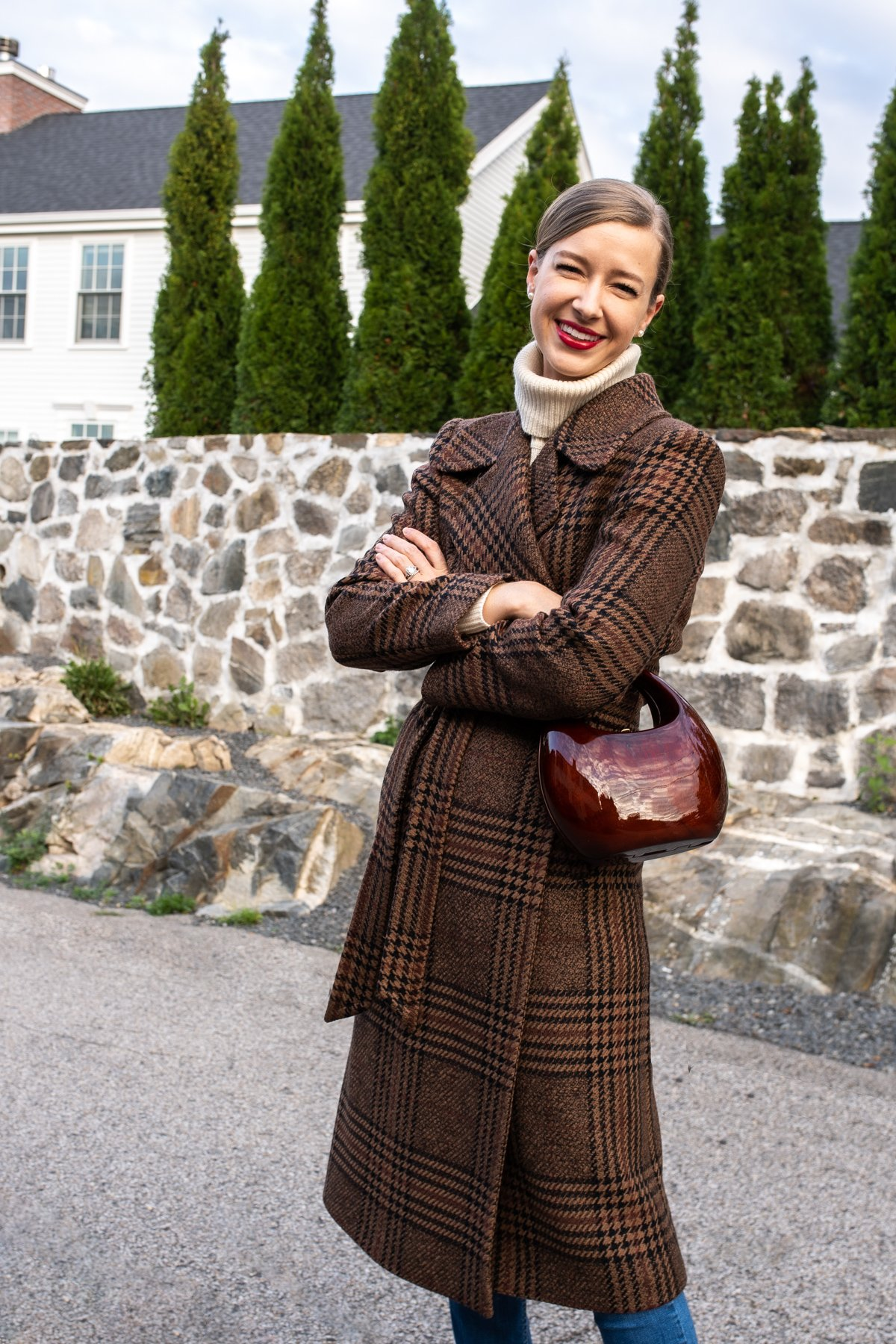 Stacie Flinner x Farfetch Plaid Wrap Coat-5.jpg
